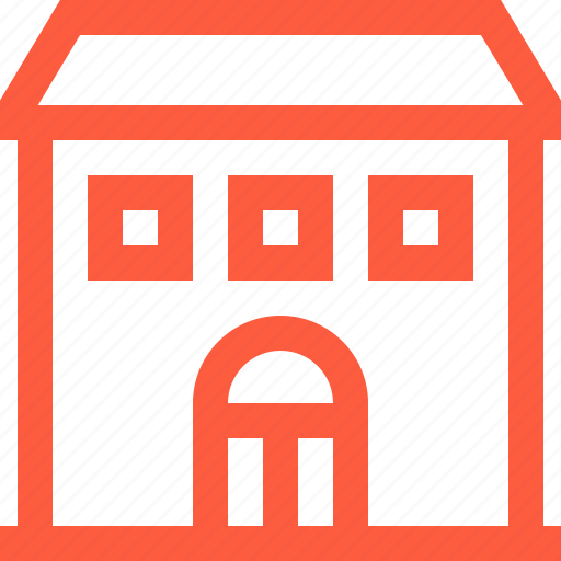building, construction, exterior, home, house, town icon