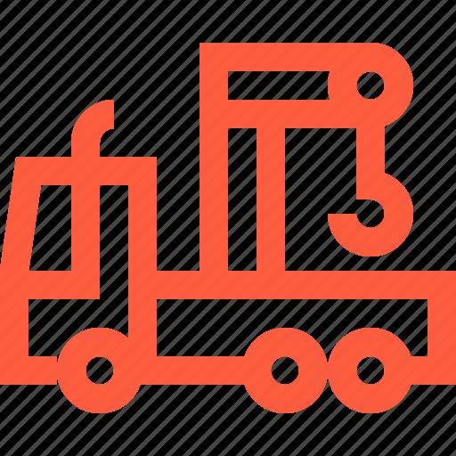 car, crane, heavy, machinery, transport, truck icon