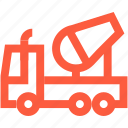 auto, car, concrete, mixer, transport, truck icon