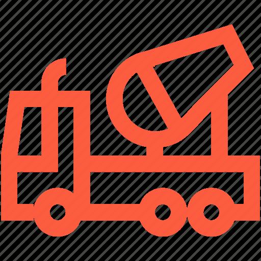 auto, car, concrete, mixer, transport, truck icon