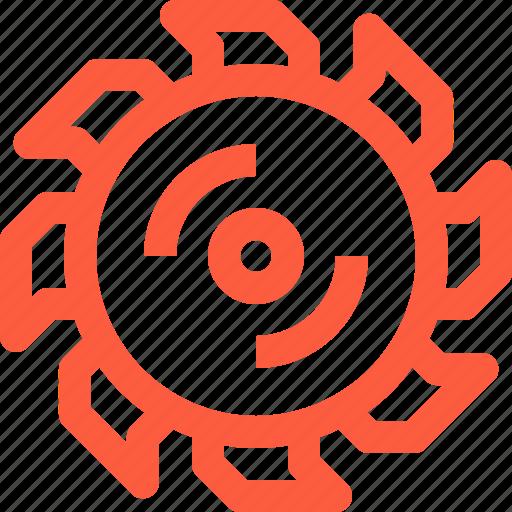 blade, circular, cut, saw, work icon