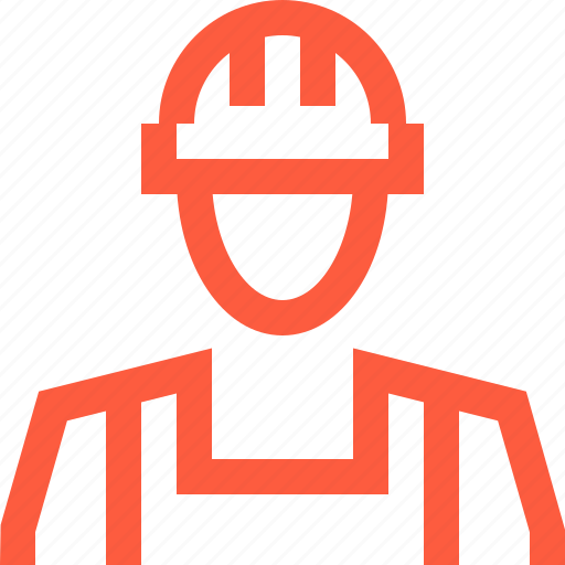 construction, engineer, foreman, man, silhouette, worker icon