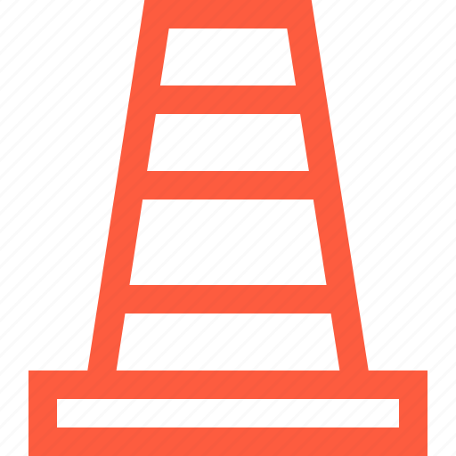 barrier, cone, construction, fence, road, warning icon