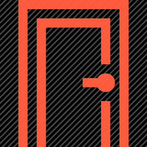 aperture, door, doorhandle, doorway, entry, frame, knob icon