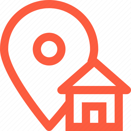 gps, home, house, location, mark, navigation, position icon