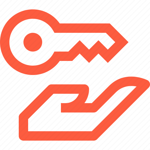 give, hand, key, offer, open, pass, password icon