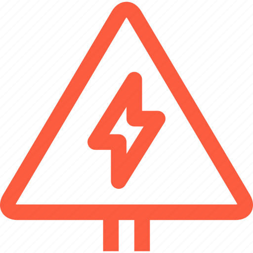 caution, danger, electric, electricity, lightning, pointer, warning icon