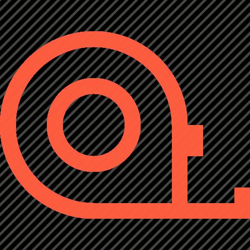 line, measure, measurements, reel, roulette, tape, tool icon