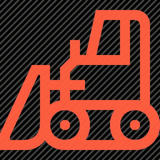 bulldozer, caterpillar, crawler, dozer, heavy, machinery, transport icon