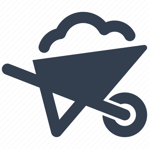 barrow, construction, equipment, renovation, tool icon