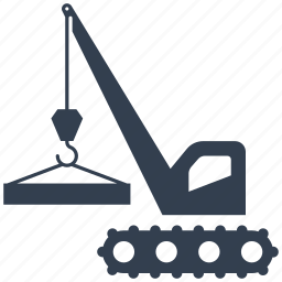 builder, building, construction, crane, excavator, industrial, lifting, machine, renovation icon