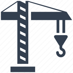building, construction, crane, hook, industrial, lifting, machine, renovation icon