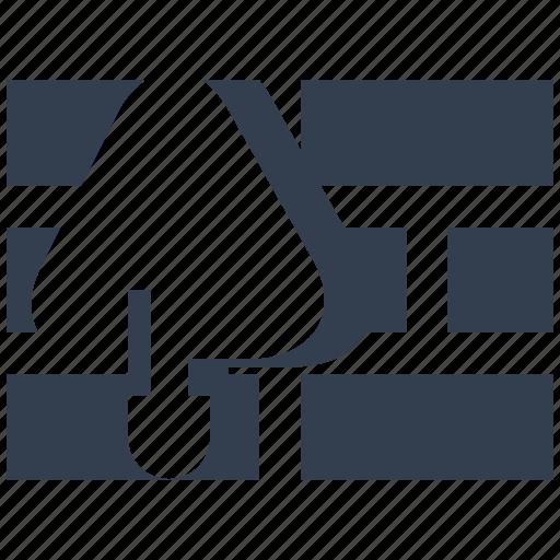 brick, building, construction, indusry, renovation, silhouette, trowel icon