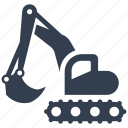 building, bulldozer, construction, digging, excavator, heavy, machine, renovation, shovel, tractor icon