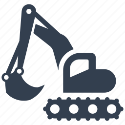 building, bulldozer, construction, digging, excavator, heavy, machine, renovation, shovel, tractor icon