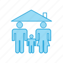 family, home, safe icon
