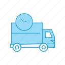 delivery, fast, sdelivery, time, truck icon