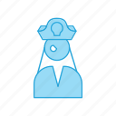 captain, female, hat, pirate, sailor, ship, telescope icon