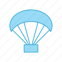 gliding, paraglider, paragliding icon