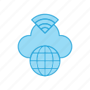 earth, global, network, signals