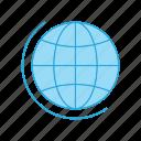 education, geography, globe, world icon