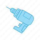 drill, hand, tool icon