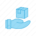 delivery, hand, over, package icon