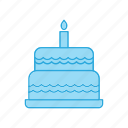 birthday, cake, dessert, food, happy, muffin icon