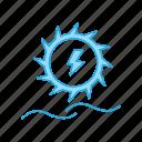 electronics, generation, hydro, plant, power icon