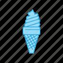 cone, cream, ice