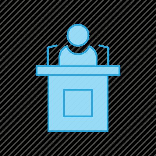 lecture, presentation, speech icon
