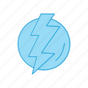 forecast, lightening, weather icon