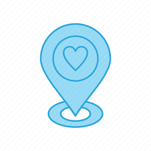 Heart, like, location, love icon - Download on Iconfinder
