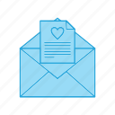 love, message, valentine icon