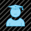 graduation, male, man, student icon