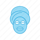 face, mask, on icon
