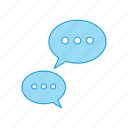 chat, communication, message