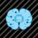 brain, creative, human, micro, mind, thinking icon