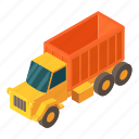 cargo, delivery, isometric, object, transport, truck, van