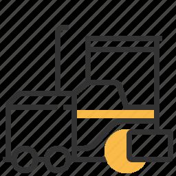 asphalt, automobile, car, construction, paver, service icon