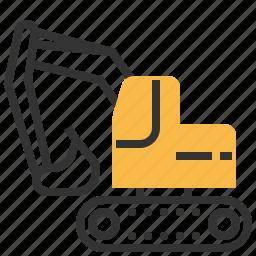 backhoe, car, construction, machine, repair icon
