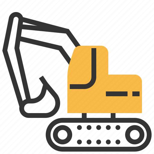 backhoe, car, construction, machine, repair icon