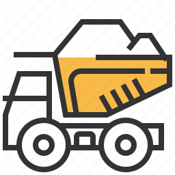 car, construction, delivery, dump, transportation, truck icon