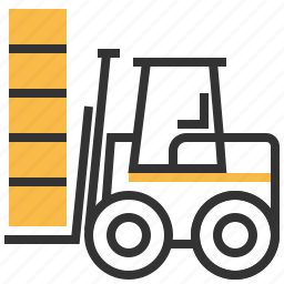 car, construction, forklift, lifter, machine icon