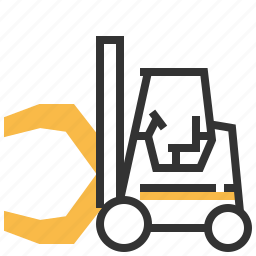 car, clamp, construction, forklift, paper, roll icon