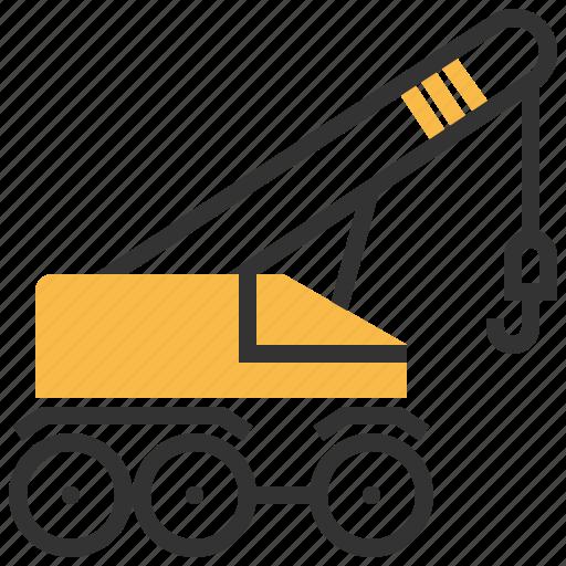 car, construction, crane, mobile icon