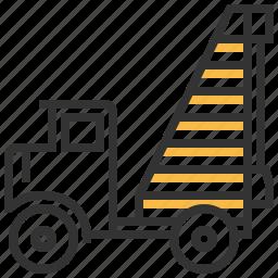 automobile, car, construction, piling, service icon