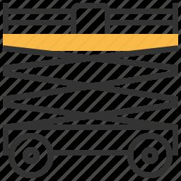 car, construction, lift, scissor icon