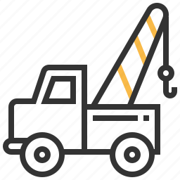 car, construction, towing, truck icon