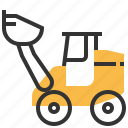 car, construction, loader, wheel icon
